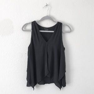 {Theory} Black Silk Layered Tank